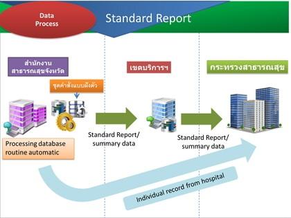ร่างมาตรฐานรายงานด้านสุขภาพ กระทรวงสาธารณสุข ประจำปี 2558